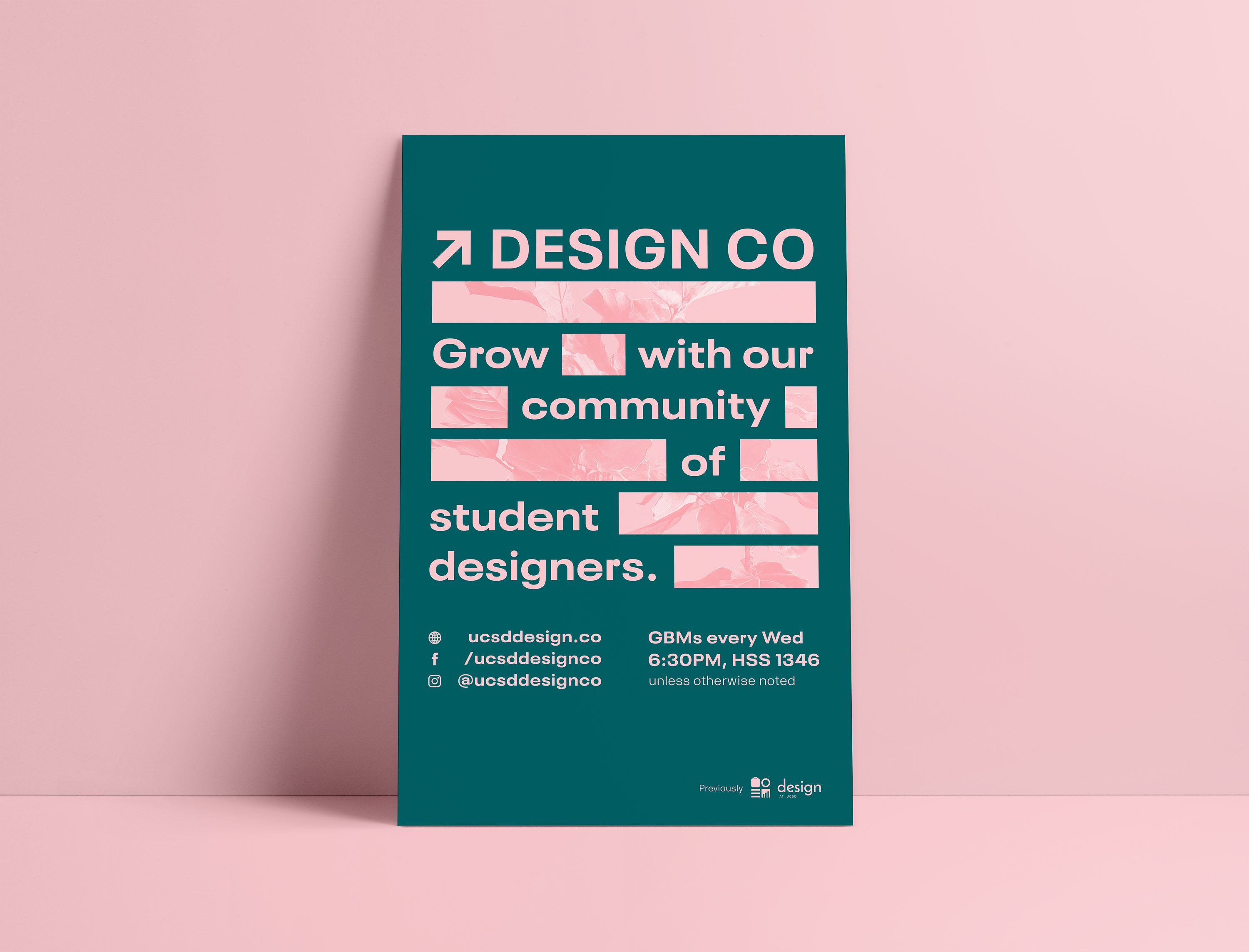 Design Co green + pink poster
