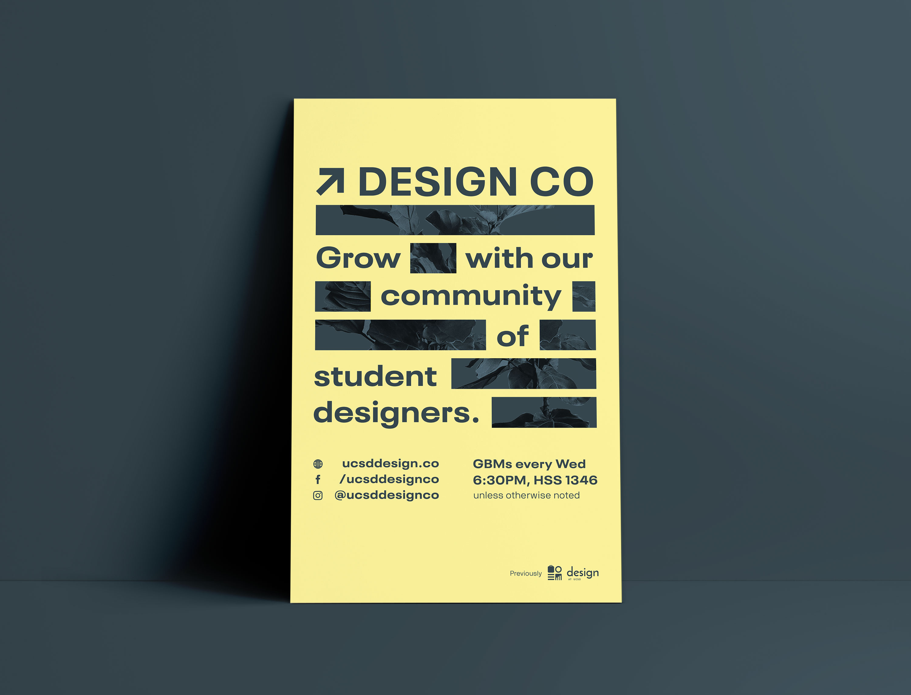 Design Co yellow + gray poster